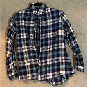 Blue/white checkered flannel